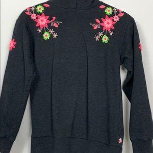 Limited Too dark grey hooded sweatshirt XL(12)